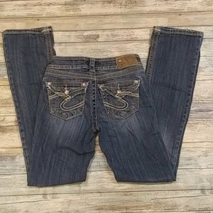 "Silver Jeans SUKI 17"" SURPLUS as W24/L33"